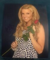 ALY FEDOTOWSKY SIGNED 8X10 PHOTO BACHELOR ABC ROSE H W/COA+PROOF RARE WOW