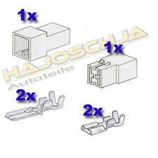 Set Steckgehäuse  2-fach Kabelverbinder Stecker  Auto Traktor  Motorrad LKW Boot
