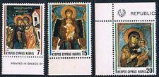Chypre 1992 Mi N°799 - 800 - 801 Mnh**  Christmas - Fresco's