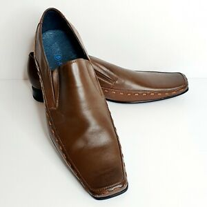 JDC Linia Uomo Mens Dress Shoes Brown Leather Size 9 NIB