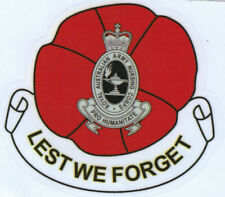 LEST WE FORGET ROYAL AUSTRALIAN ARMY NURSING CORPS VINYL STICKER 94MM HIGH