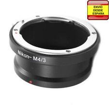 Anillo adaptador lentes Nikon a micro Cuatro Tercios micro4/3 micro Four Thirds