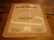 GRACE JONES SLAVE TO THE RHYTM!!RARE FRENCH MUSIC SCORE