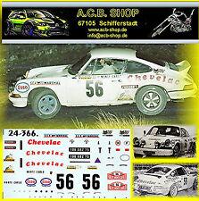 Porsche 911 Carrera RS Rallye Monte-Carlo 1975 #56 Rouget Chenez 1:24 Sticket