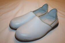Vtg Cuir Agadir Slipper Leather Slip On Shoes Flats Sandals Gray 9 EUC Elephants