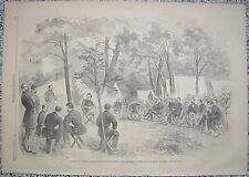 General McClellan's Head-Quarter Harrisons Landing Virginia Harper's Weekly 1862