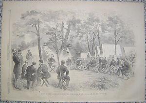 General McClellan's Head-Quarter Harrisons Landing Virginia Harper's Weekly 1862
