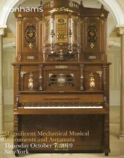 Bonhams Mechanical Musical Instruments Automata Yaffe Post Auction Catalog 2010