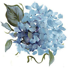XL HanDPaiNTeD SkY BLuE HyDRanGeaS ShaBby WaTerSLiDe DeCALs ~FuRNiTuRe SiZe~