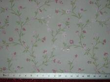 Blumenranken-TAPETE 53 x30 cm,rosa-weiß,Puppenstube