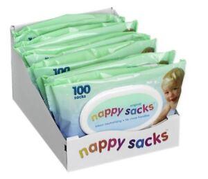 Nappy Sacks Bags 100 Case