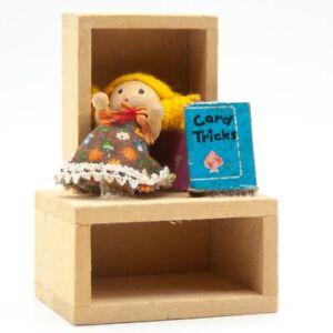 Dolls House Furniture Wood Pine Book Shelf Toy Room