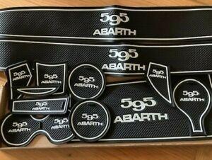 FIAT 500 2015 - 2020 'ABARTH' INTERIOR DASHBOARD GATE PADS FACE LIFT MODEL WHITE