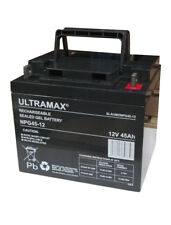2 x12v 45Ah AGM/Gel remplace Batteries 38ah 40ah 42Ah 44ah mobylette batteries