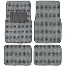 carXS Gray Heavy Duty Woven Berber Carpet Car Floor Mats Fit 4 Pcs