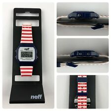 Neff Flava Watch Red White Blue Color Watch Neff watch Band Adjustable Strap New