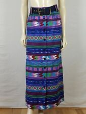 Vintage PRESTIGE OF BOSTON Maxi Multi-colored Bohemian skirt Size XS 23 Waist