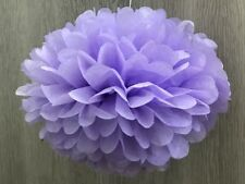 12x lilac paper pom poms wedding party bridal baby shower anniversary decoration