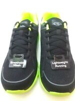 ATHLETIC WORKS -MEN-MOST SIZES BLACK/LIME-LIGHTWEIGHT-RRUNNING-ATHLETIC SHOES