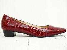 Top Zustand! ☀ LAZZARINI ☀ Damen Pumps Gr. 39 Lackleder Rot Leather Woman Shoe