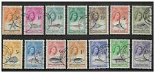 Tristan Da Cunha 1960 QEII Marine Life Set of 14 Stamps SG28/41 Fine Used 12-4