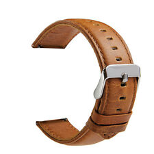 Brown 22mm Quick Release Pin Retro Leather Watch Strap Band for Fossil Q Founder