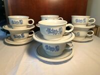 Lot of 16 Phaltzgraff Yorktowne Cups & Saucers, Coffee, Tea, or Great for Soup!
