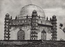 1928 Original INDIA Bijapur Mohammad Adil Shah Tomb Mausoleum Photo By HURLIMANN