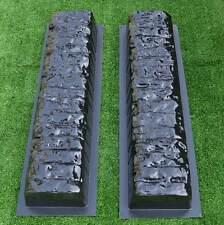 2pcs EDGE STONE CONCRETE MOLDS Log Edging Border Mould ABS Plastic Concrete#BR05