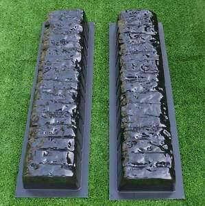 Concrete molds straight edge stone log edging border garden curbs sold 2pcs BR05