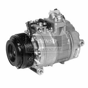 DENSO 471-1262 Compressor w/ Clutch For 98-01 750iL Silver Seraph