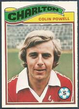 TOPPS 1978 FOOTBALLERS #092-CHARLTON ATHLETIC-COLIN POWELL