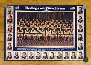 SANFL NORWOOD REDLEGS Genuine Vintage 1980's Football Collectors Poster