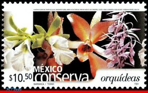 2268 MEXICO 2002 CONSERVATION, ORCHIDS, FLOWERS, PLANTS, (10.50P), MNH