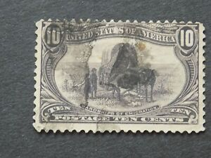 (1) USED U S 1898 Stamp off paper Scott # 290-Transmississippi Exposition Issue