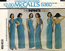 1970's VTG McCall's The Infinite Dress Pattern 5360 Hip 32-38 UNCUT