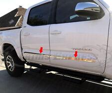 "2016-2018 Toyota Tacoma Crew/Double Cab Flat Chrome Body Side Molding Trim 2"""
