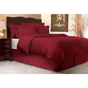 300 Thread Count Sateen Stripe Duvet Cover for Hair and Skin