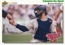 527 BRIAN HARPER MINNESOTA TWINS  BASEBALL CARD UPPER DECK 1992