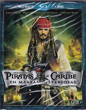 BLU-RAY PIRATAS DEL CARIBE EN MAREAS MISTERIOSAS BR+DVD  PRECINTADO