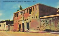 Postcard Oldest Home in USA Santa Fe New Mexico