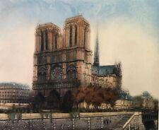 """Notre Dame"" Original Color Etching"