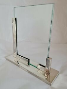 Art Deco sterling silver photograph frame. Birmingham 1930. By Adie Brothers Ltd