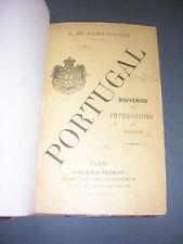 Portugal De Saint-Victor (G.) Voyage au Portugal au 19° siècle