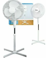 "16"" Oscillating Electric Pedestal Cooling Fan Standing Stand Extendable Tower UK"