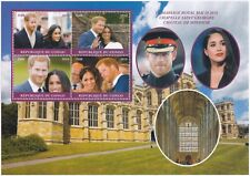 Prince Harry & Meghan Markle Royal Wedding Sheetlet, Congo 4 x f500, MNH, 2018