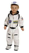 Aeromax Jr. Astronaut Suit With Embroidered Cap Costume in White Size 12 / 14