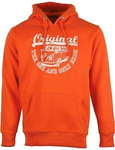 Herren Hoodie VW Bulli T1 Kapuzenpullover Sweatshirt »ORIGINAL RIDE« Orange Weiß