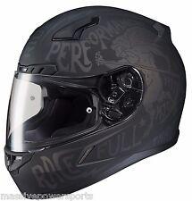 HJC CL-17 Rebel Motorcycle Helmet Gray L LG Large Snell