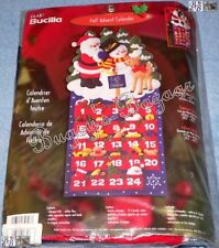 Bucilla HAPPY HOLIDAY Advent Calendar Felt Christmas  Kit -Santa,Frosty - 84603